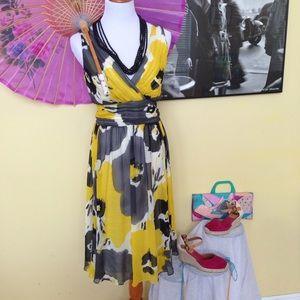 Spiegel Dresses & Skirts - ✨HP✨Spiegel Silk v-Neck Vintage Retro 14‼️Lowest‼️