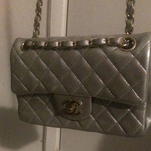 936d1dd2a1b4 Chanel Bags - Chanel metallic silver goatskin rectangular mini