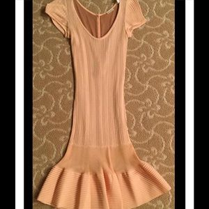 Alaia Dresses & Skirts - Vintage Alaia Dress Peach Knit Size M