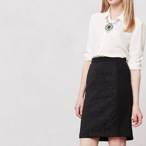Anthropologie Dresses & Skirts - Anthropologie Black Textured 'piana' Pencil Skirt