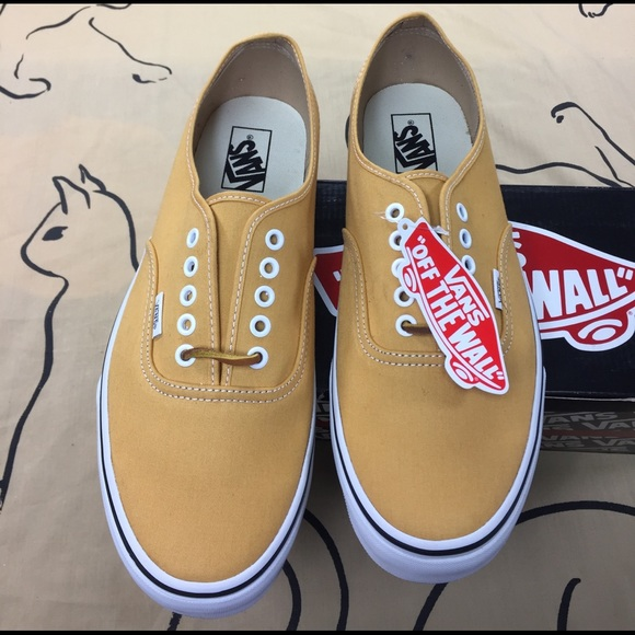 Vans Authentic Brushed Twill Yellow 01af2e778