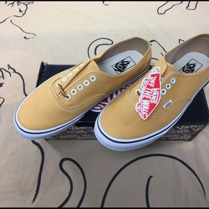 Vans Shoes - Vans Authentic Brushed Twill Yellow 867889c09