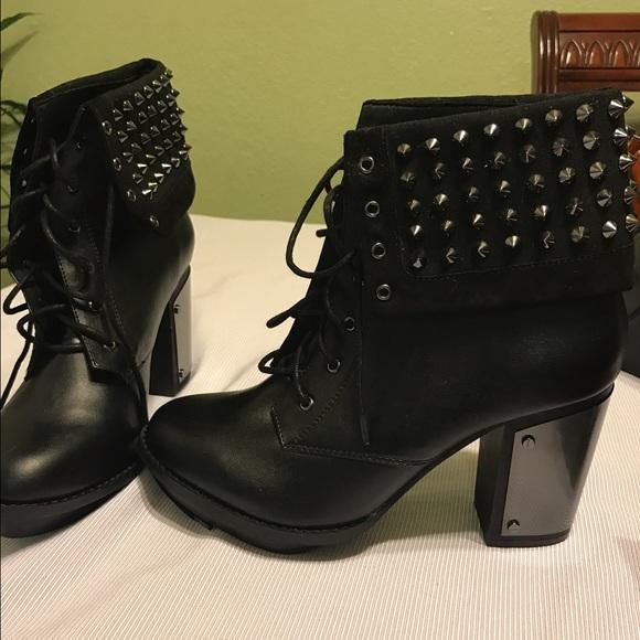 12dca1a4a6b Studded Combat Boot Heels