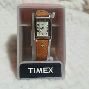 Timex Accessories - Timex Genuine Leather Strap Watch