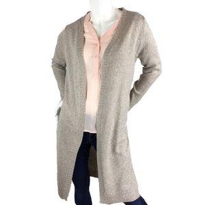 Sweaters - Women's Open Front Long Knit Cardigan (S/M, M/L)