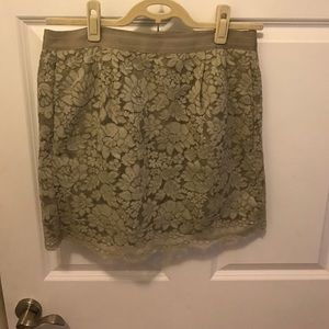 J.Crew lace skirt sz 8