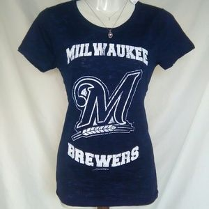 5th & Ocean Tops - Milwaukee Brewers MLB tee by 5th and ocean nwt