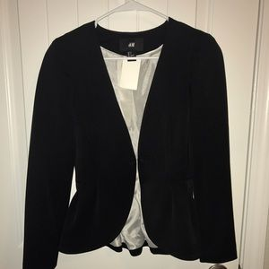 H&M Peplum Blazer in Black- Size 4