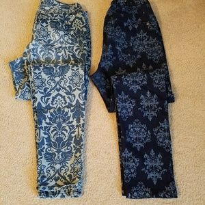 South Pole Denim - Printed Jean Jeggings  selling both pair for  $22