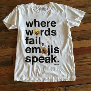 Jac Vanek Tops - Jac Vanek WHERE WORDS FAIL EMOJIS SPEAK tee