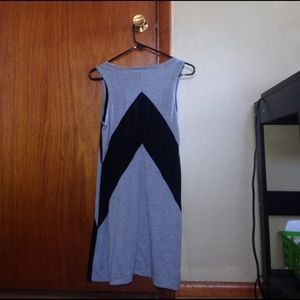 Fashion Bug Dresses - A gray and black diagonally patterned dress