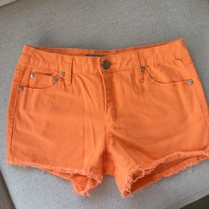 Tractr Other - Girl's Tractr Orange Denim Cut-off Shorts