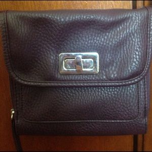 Handbags - A purple with leather texture purse