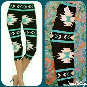 Twilight Gypsy Collective Pants - SALE!  Mint Aztec Capri Leggings