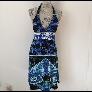 Christina Love Dresses & Skirts - Christina Love Blue Halter Dress S