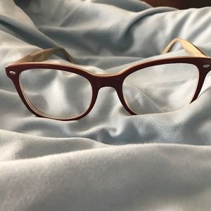 b7c7e4cf4a Ray-Ban Accessories - Burgundy Rayban RX Glasses RB 5285