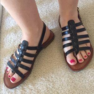 Diba Shoes - Diba black leather sandal size 7 excellent cond.