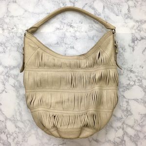 Liebeskind Handbags - Liebeskind Beige Leather Slouchy Hobo Shoulder Bag