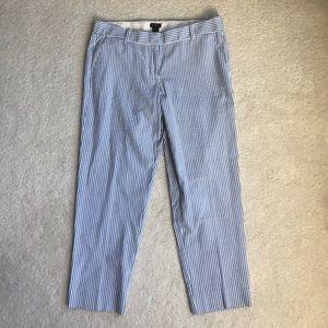 J.Crew city fit seersucker cropped pants