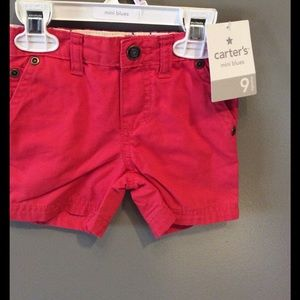 9 month red shorts