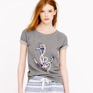 J.Crew floral anchor sweatshirt
