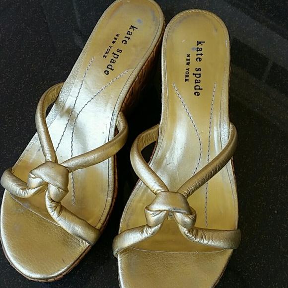 kate spade shoes golden shanghai wedges poshmark