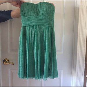 NWOT Emerald Green Sparkly Strapless Dress