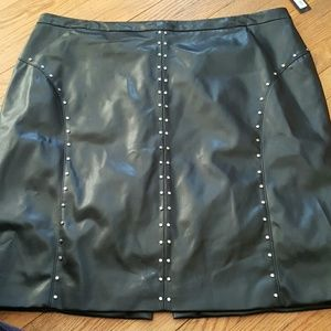 Plus Size FAUX Leather Skirt Size 24W
