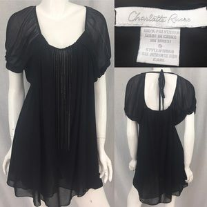 Charlotte Russe Tops - 🎀Small Charlotte Russe Black Chain Open Back Top