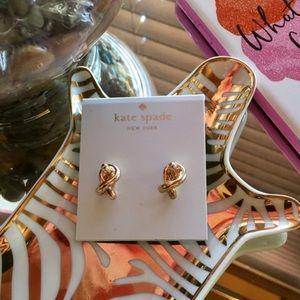 Kate Spade 'Sailors Knot' Gold Mini Stud Earrings