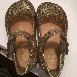 Mini Melissa Other - Mini Melissa gold baby shoes Great condition