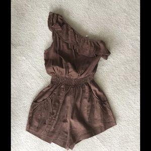 Closet Pants - Brown linen romper