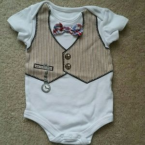 Baby Starters Other - Cute Bow Tie Baby Onesie