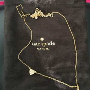 kate spade Jewelry - Reversible heart pendant.