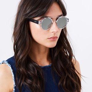 Quay It's a Sin Mirrored Sunglasses Coachella