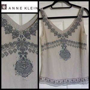 Anne Klein Tops - 🔽REDUCED🔽 A Bit of Sparkle - 100% SILK