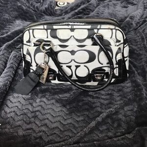 coach bag black and gray pm6x  Black and gray Coach bag