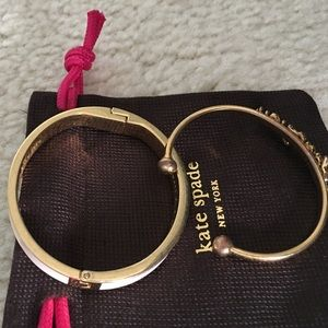 "kate spade Jewelry - Listing is for 2 of 4 bangles. ""Smile and key"""