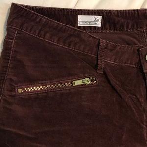 GAP Denim - Gap Always Skinny Jeans in Maroon Velvet