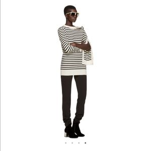 Off-white and Black Striped Sweater