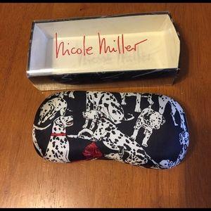 Nicole Miller Eyeglass Case Dalmatian Print