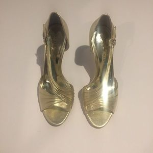 Marc Fisher Shoes - NWT Marc Fisher Gold Strappy Heels