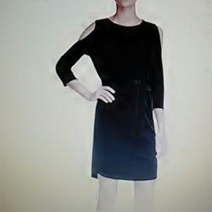 SALEAlison Andrews Cold Shoulder Dress Black XL