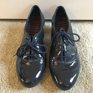 Camper Shoes - Camper Navy Patent Leather Oxfords