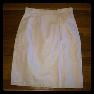 Vintage white leather mini skirt