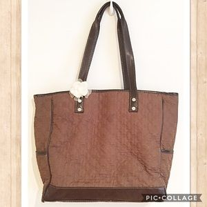 Thirty One Handbags - Thirty One Brown Quilted Cindy Tote