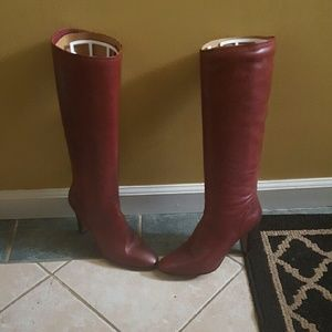 🌸🌸HOST PICK🌸🌸 Etienne Aigner Red Leather Boots