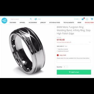 Other - 8MM Men's Tungsten Ring Wedding Band