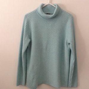 Eileen Fisher blue turtle neck sweater