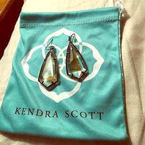 Kendra Scott Gunmetal Clear with Brown Pearl $65